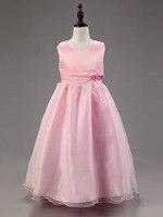 Ragazze principessa vestito pieno Rosa matrimoni abito da ballo abiti da festa Elegante fiore ropa de nina vestido de fiesta disfraz princesa