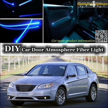 For Chrysler 200 For Lancia Flavia interior Ambient Light Tuning Atmosphere Fiber Optic Band Lights Door Panel illumination 1