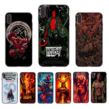 IMIDO American Manga Hellboy Soft black silicone phone case for iphone 7 8 X Xs Xr Xsmax 6 5 6s/6/7/8plus 5s 6s se shell cover