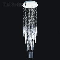 ZMISHIBO Modern Style LED Crystal Ceiling Pendant Lamp GU10 110 220V Surface Mounted Chandelier Lighting For Foyer Living Room