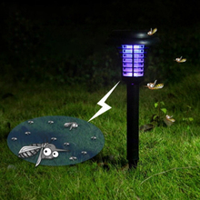 1pc Hot Sale Solar Insect Killer Mosquito Lamp White Light Purple Outdoor Lawn Led Electronic Mosquito Lamp