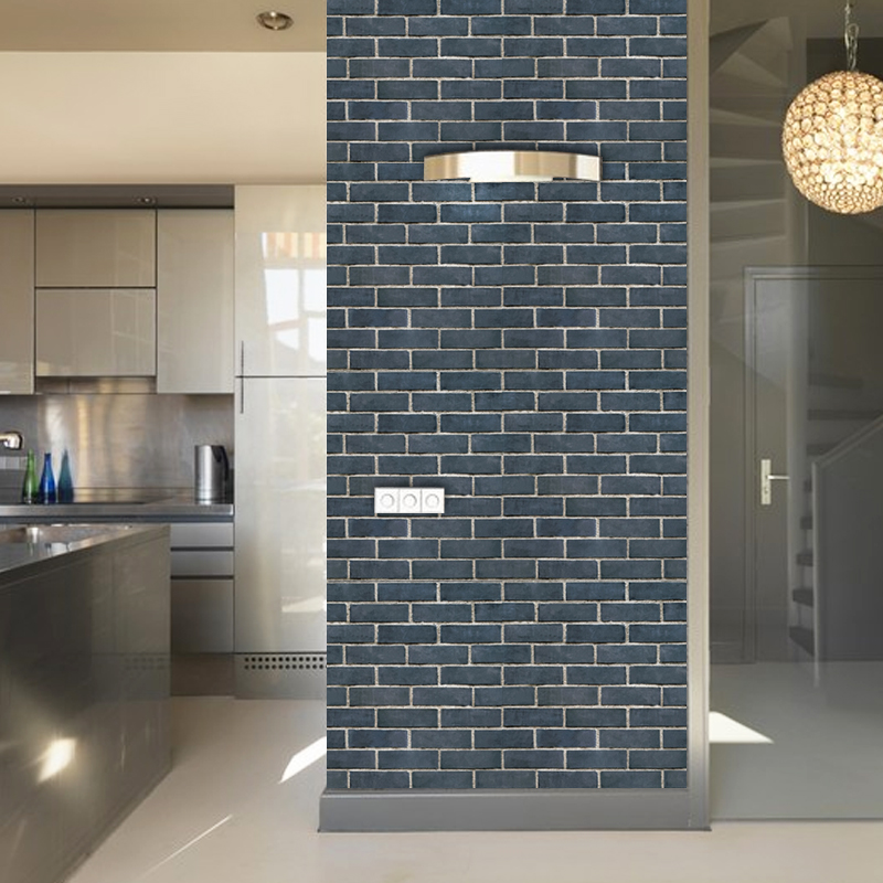 Imitation Brick Pattern 3D Vinyl Wall Paper Stickers Waterproof Self-adhesive Wallpaper Roll Living Room Kitchen Backdrop Decor