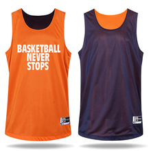 Newest Men s Double sided Set Wear Reversible Basketball Clothes Suit Training Shirt shorts Game Uniforms