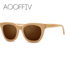 AOOFFIV Wood Sunglasses Women Polarized Lens Sun Glasses Bamboo Frame Eyewear 2017 New Designer Shades UV400 Protection ZA22-2
