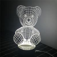 Creative Acrylic Plate LED Night Light 3D Cute Graphic Atmosphere Lamp Interior Decoration Bedside Lamp Children