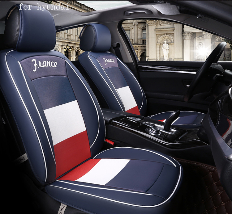 OUZHI flag pattern pu leather car seat cover for hyundai i30 ix35 solaris tucson 2016 accent front rear full universal car for lexus es is gs gx ls ct lx rx rc nx new brand luxury soft pu leather car seat cover front