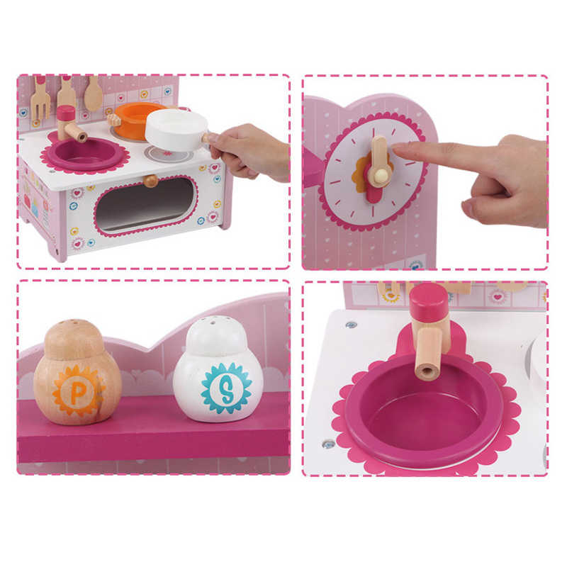 Baby Toys Kid Cooking Set Wooden Kitchen Toy For Children Wooden Food Play Kitchen Set Pink Stove Gift Toy Helicopter Toys R Us Remote Control Truckstoy Charm Aliexpress