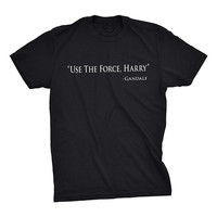 Quality Print New Summer Style Cotton Crazy Dog T Shirts Mens Use The Force Harry Funny
