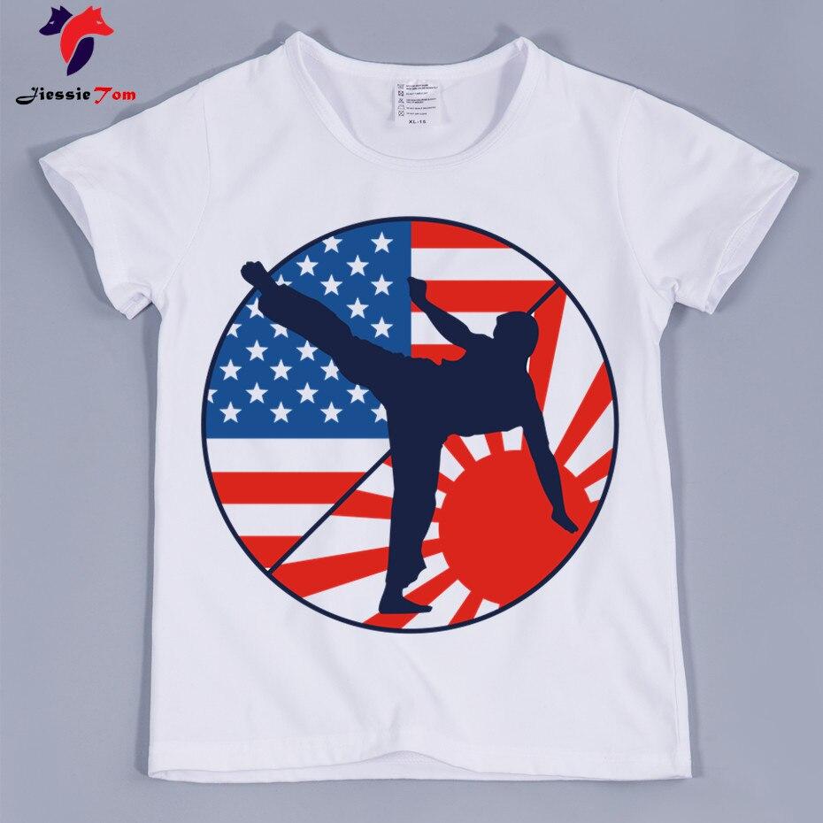 Карате удар ММА Шотокан Дизайн прикольные футболки для мальчиков и девочек Милая одежда для малышей Chindern Повседневное Футболки