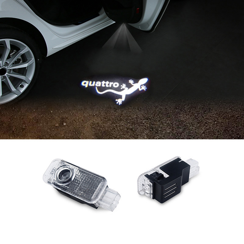 2pcs LED Car door welcome light courtesy led car laser projector Logo Ghost Shadow Light For Audi quattro Logo power Light бусы из натурального жемчуга ажур