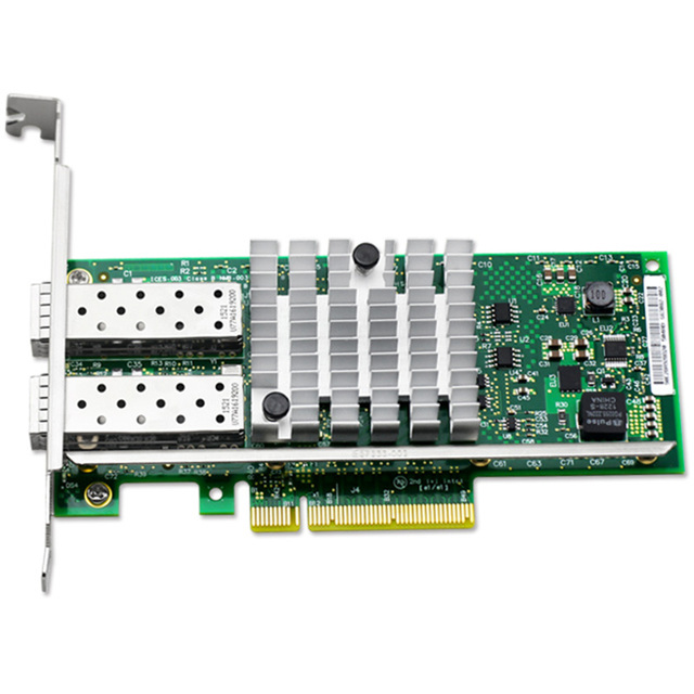 US $111 18 |UNICACA AN8599 F2 10G dual with SFP+ Intel Network Card  E10G42BFSR Ethernet Server Adapter X520 SR2-in Add On Cards from Computer &  Office