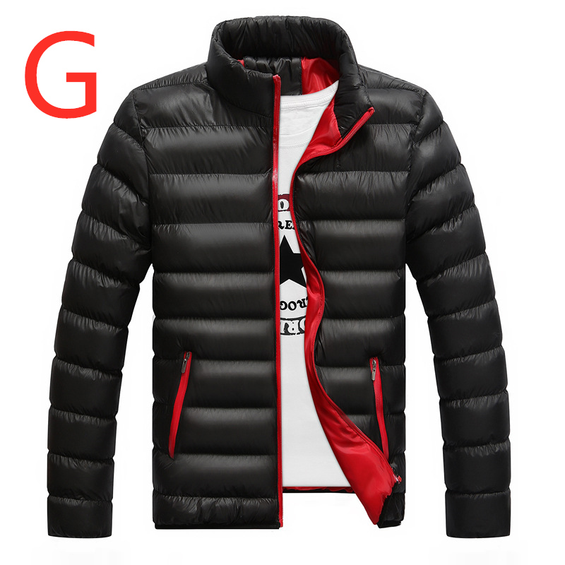 G For Men's Casual Feather Jacket Man Ultra Light   Down   Jacket Men Casual Winter   Down   Duck Windbreaker Man Stand Collar   Down     Coat