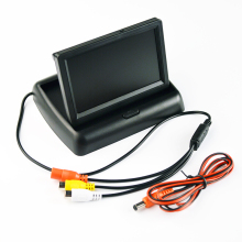 """Hipppcron 4,"""" Автомобильный Монитор складной цветной TFT-LCD монитор заднего вида автомобиля 4,3 дюймов парковочная система для камеры заднего вида автомобиля"""