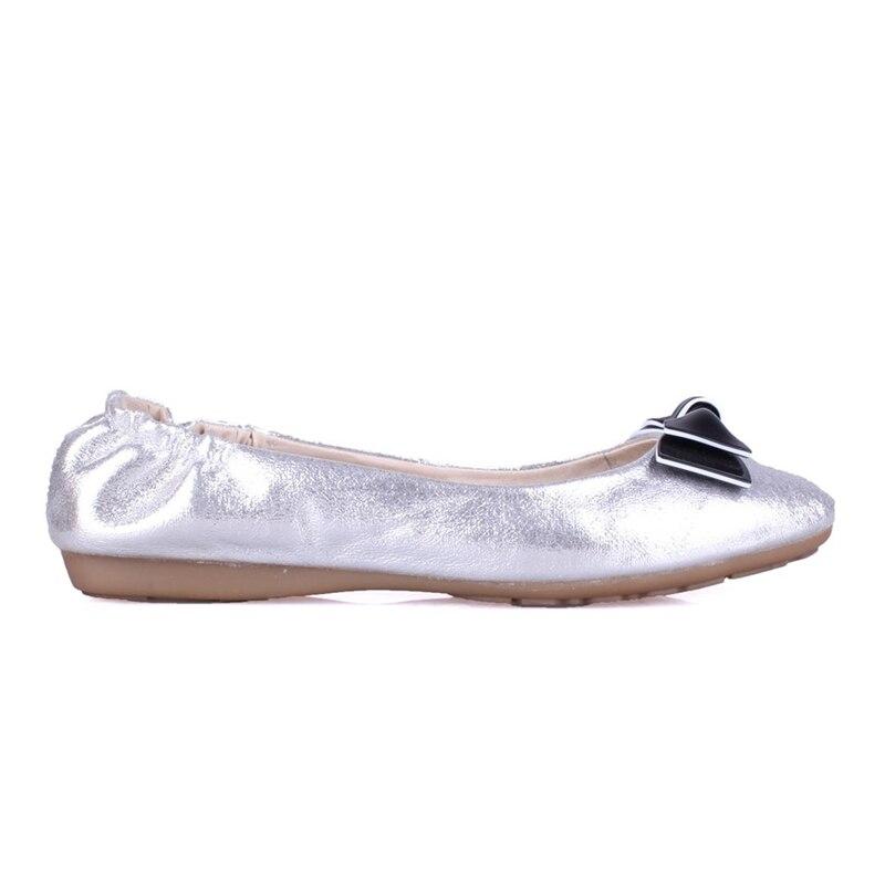 ccc1684630b30 E Confortevole Dolce Di Del Dell oro Karinluna Casuale argento Marca Oro  Vorticoso Scarpe Morbida Primavera Bowtie Da Donna ...