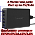 Tronsmart USB Wall Charger 60W Voltiq Quick charge 3.0 5 Ports Fast Charger for Xiaomi iPhone LG Nexus 5X 6P Huawei Mate 8 P9