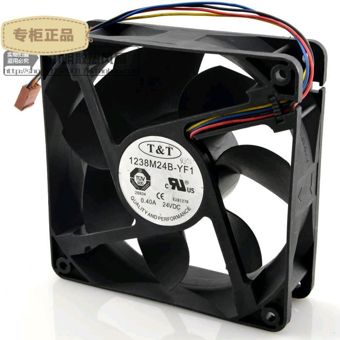 Free Delivery. 1238 m24b YF1 24 v 0.40 A 4 line frequency conversion fan fan by the server Silent fan