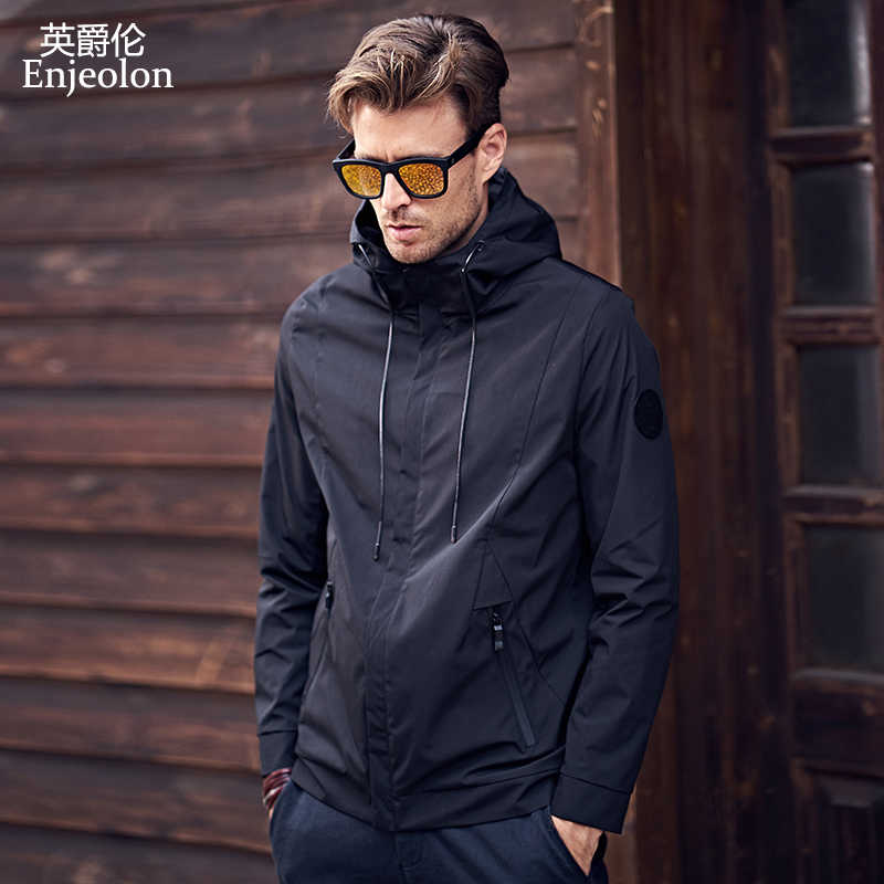 Enjeolon 2019, осенне-зимняя куртка-бомбер, Мужская ветровка, мужские куртки, пальто, уличная куртка с хлопковой подкладкой, мужская одежда JK0324