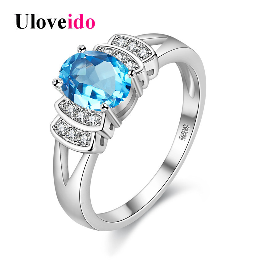 Fashion blue engagement rings romantic unusual gifts for for Luxury gift for women