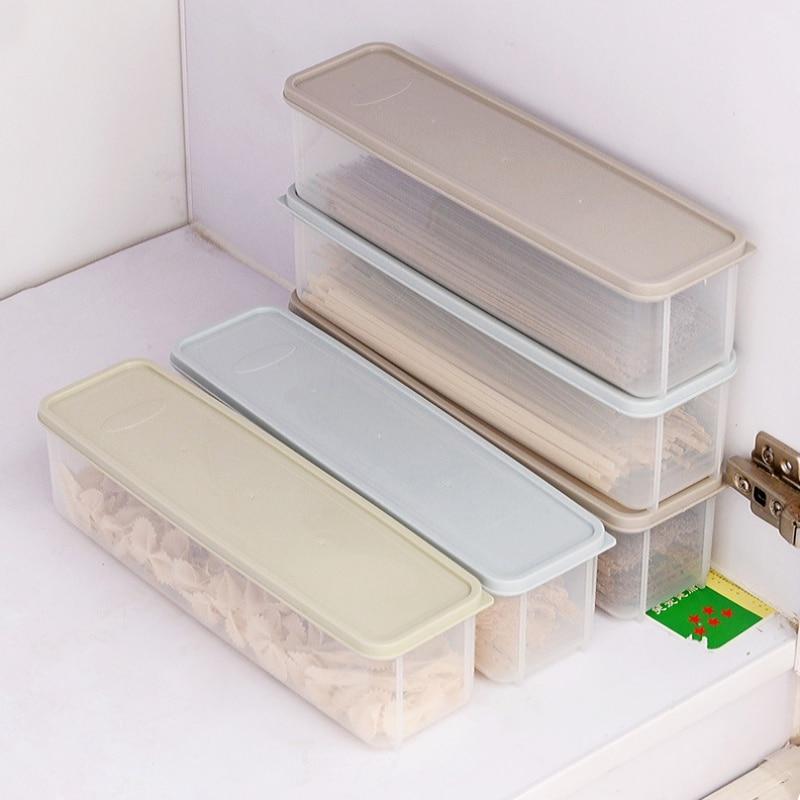 Tama/ño : 2 Boxes XQQ La Caja de Almacenamiento de Espaguetis Rectangular de pl/ástico para el hogar de Gran Capacidad Puede ser f/ácil de Guardar Prueba de Insectos y de Humedad
