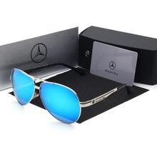 70b25b14c Luxo Óculos Polarizados para Homens Piloto Óculos De Sol Dos Homens do  Metal para Mercede Marca de Condução Óculos de Sol de Laz.