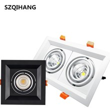 COB Double-Headed Spotlights Grille Single Head Two 10W/2*10W Square Furniture Shop Lamp