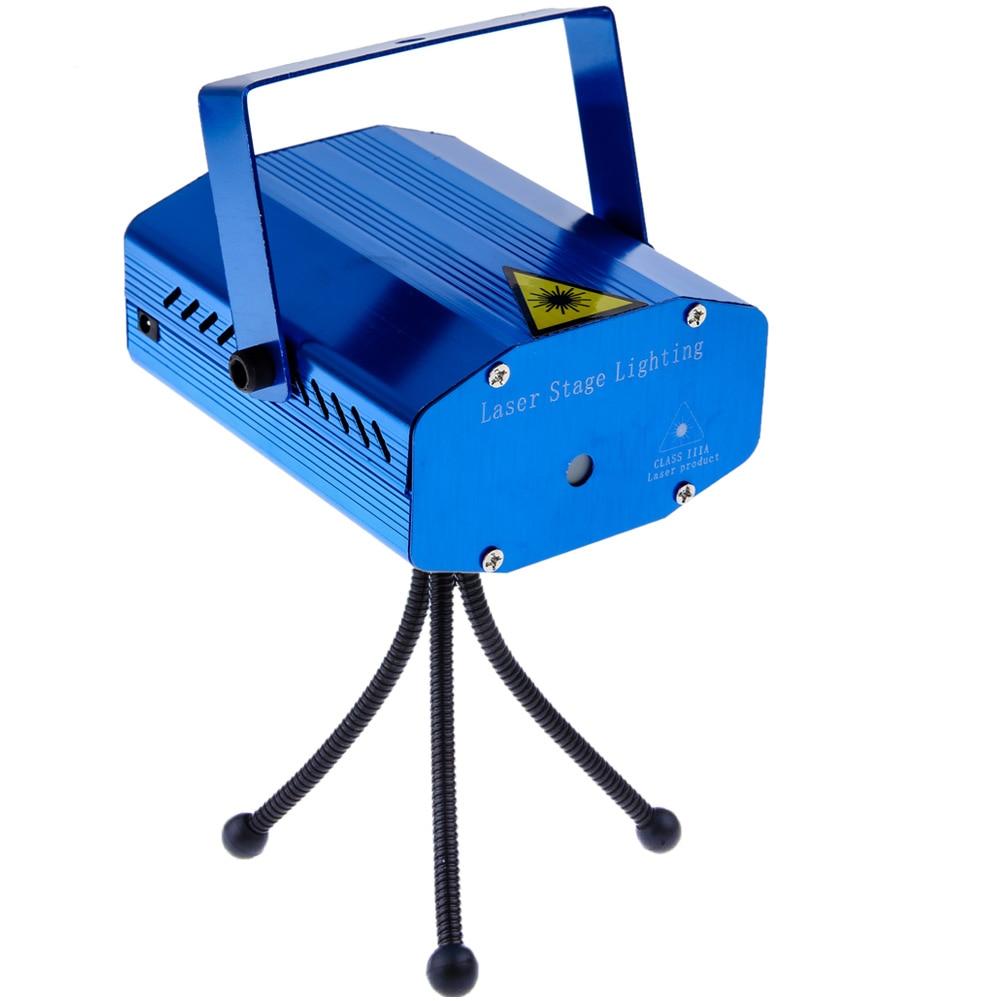 Mini 4 Patterns Laser Projector Stage Lights AC110-240V LED Red & Green Lighting Xmas Party KTV DJ Disco Light