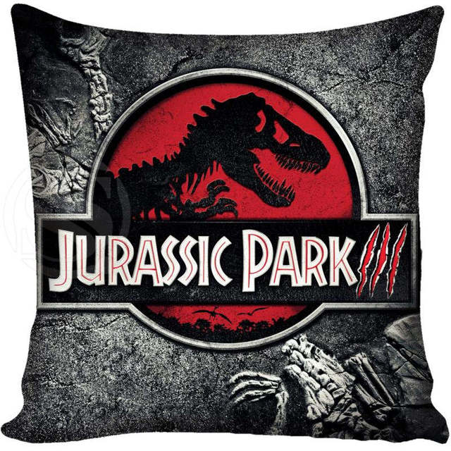 Preferred Custom Pillow Case Jurassic Park Logo Square Pillowcases zipper  RF73