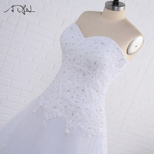 Plus Size Mermaid Wedding Dresses Big Women Sweetheart Sleeveless Beaded Sequin Applique Tulle Bridal Gown Lace-up Back