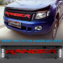Citycarauto автомобильные аксессуары Передняя гонки решетка грили ABS передний автомобилей Маска Крышка с LED DRL, пригодный для Ford Ranger T6 TXL 2012-14