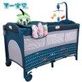Muchos países de envío gratuitos! luz bebé cama Europa portátil plegable cama de bebé enviar juguetes