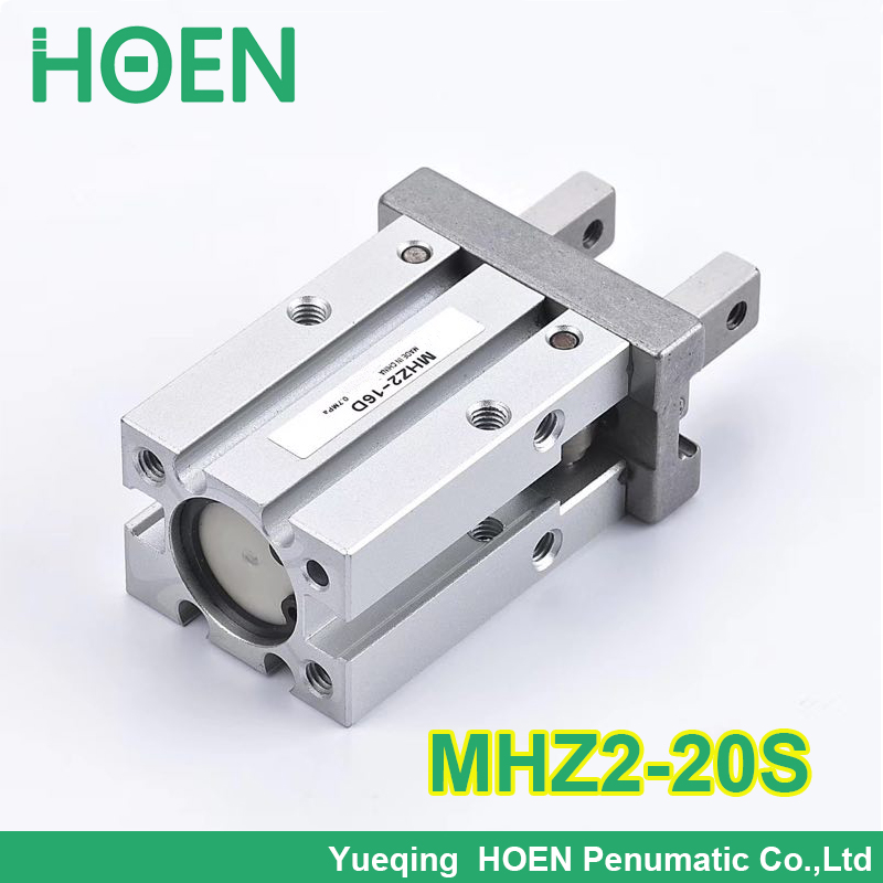 High quality Single acting normally open mini gripper pneumatic finger cylinders MHZ2-20S aluminium air clamps