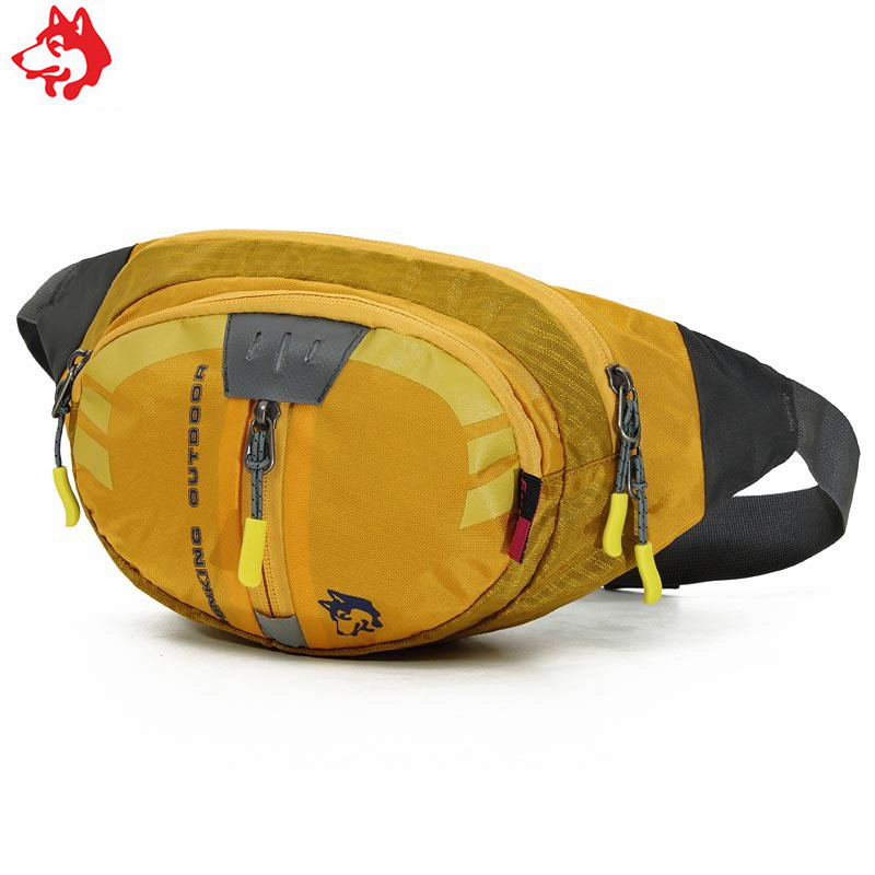 Wholesale CY-2009 Customized Small Hiking Waist Bag Fanny Pack Yellow/Grey/Blue/Green Outdoor Sport Running Jogging Waist Bag
