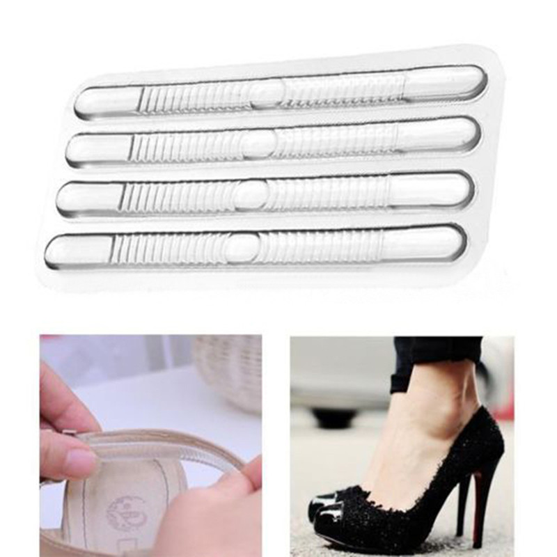 Silicone Gel 2Pcs Heel Cushion Shoe Insole Liner Pro Foot Care Inserts Pad Gri
