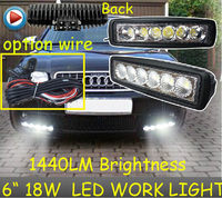 Only 14USD PCS 6 18W 1440LM 10 30V 6500K LED Working Light Free Ship Optional Wire