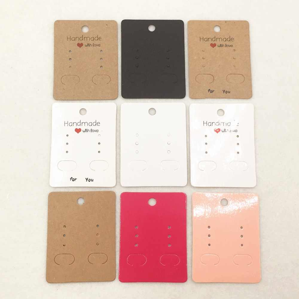 20pcs 6.5x5cm Paper classic earring cards,handmade jewelry accessories displays cards,Earring accessories packing card