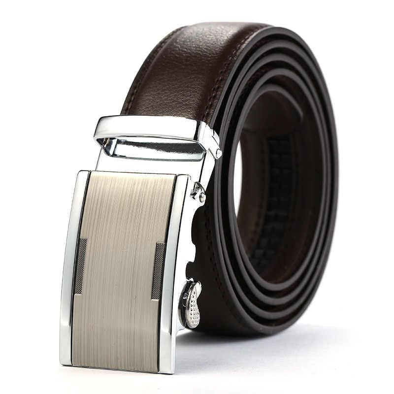 8ba5af4df Fashion BRAND balck Belt Men Luxury 2019 Automatic Buckle Metal brown Male  belt Top sale Genuine