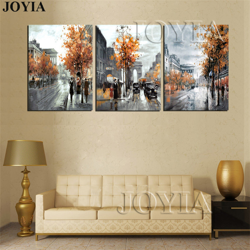 Home Decor Canvas Painting Abstract City Street Landscape Paintings ...