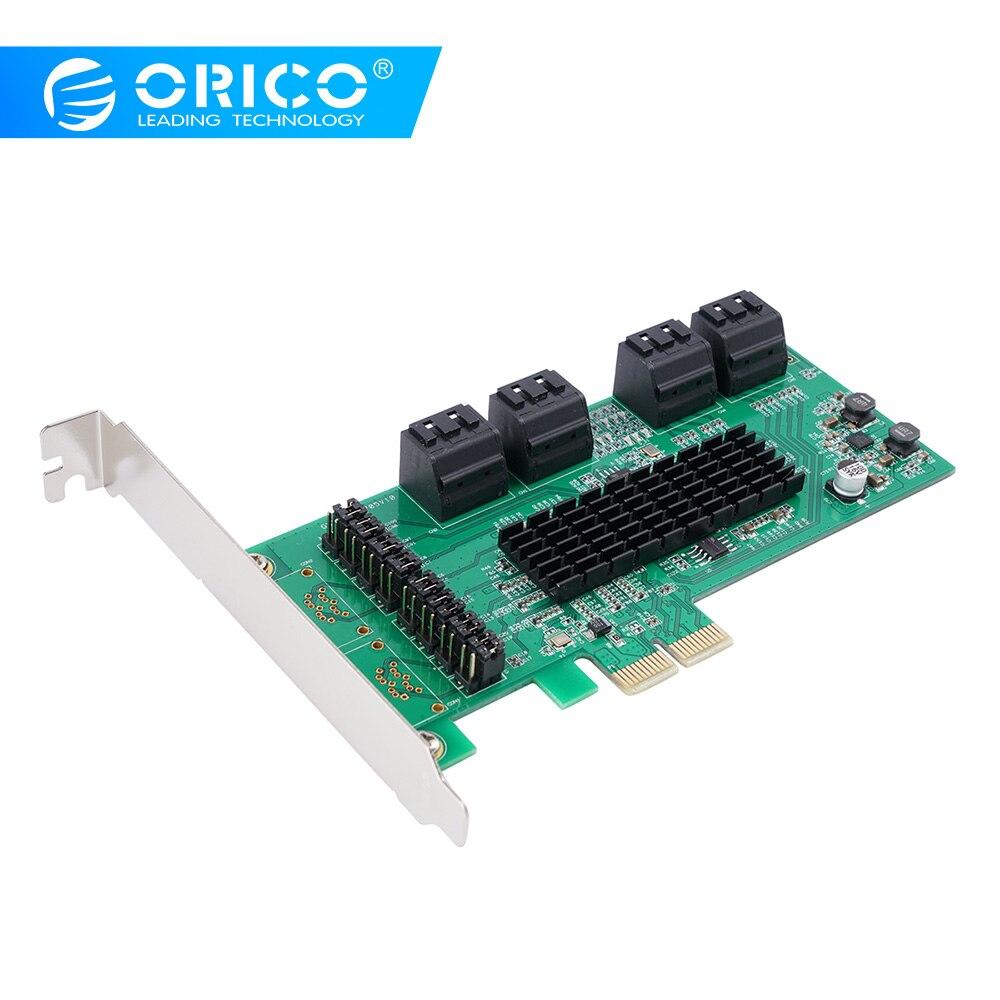 ORICO 8 Ports SATA3.0 D'extension PCI E Carte Adaptateur 6 Gbit/S Haute Vitesse Pour ordinateur de bureau Composants X1/X4/X8/X16 Carte PCI Express-in Cartes d'extension from Ordinateur et bureautique on AliExpress - 11.11_Double 11_Singles' Day 1