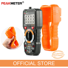 Official PEAKMETER Digital Multimeter PM18C with True RMS AC/DC Voltage  Resistance Capacitance Frequency Temperature NCV Tester