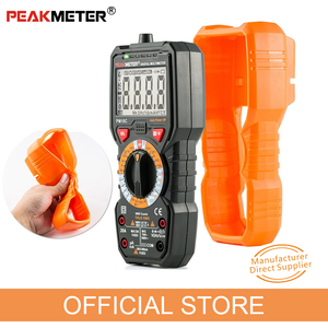 Image 2 - Official PEAKMETER Digital Multimeter PM18C with True RMS AC/DC Voltage  Resistance Capacitance Frequency Temperature NCV Tester