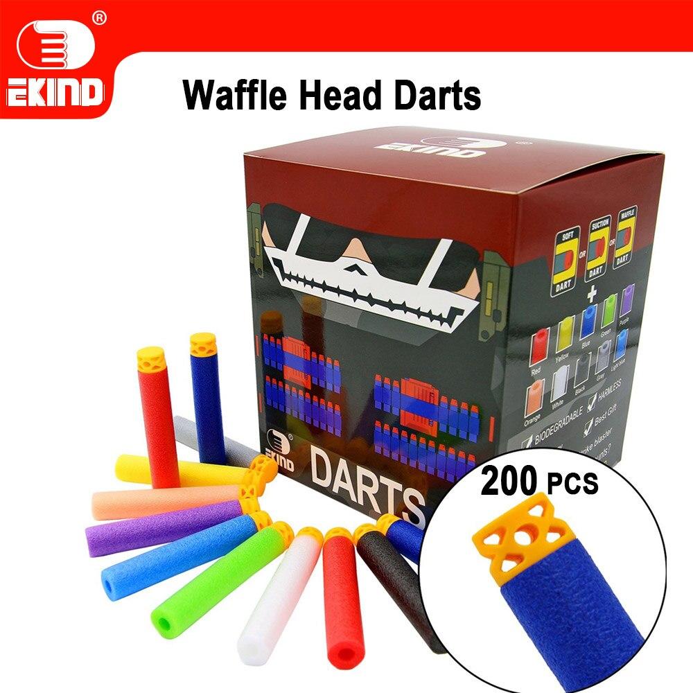 Waffle Darts 200pcs 7.2cm Refill For Nerf Series Blasters Kid Toy Gun