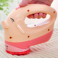 Pig Cartoon Cute Design Rechargeable Lint Remover Device Electric Hair Ball Trimmer Lint Brush Shaver Removers
