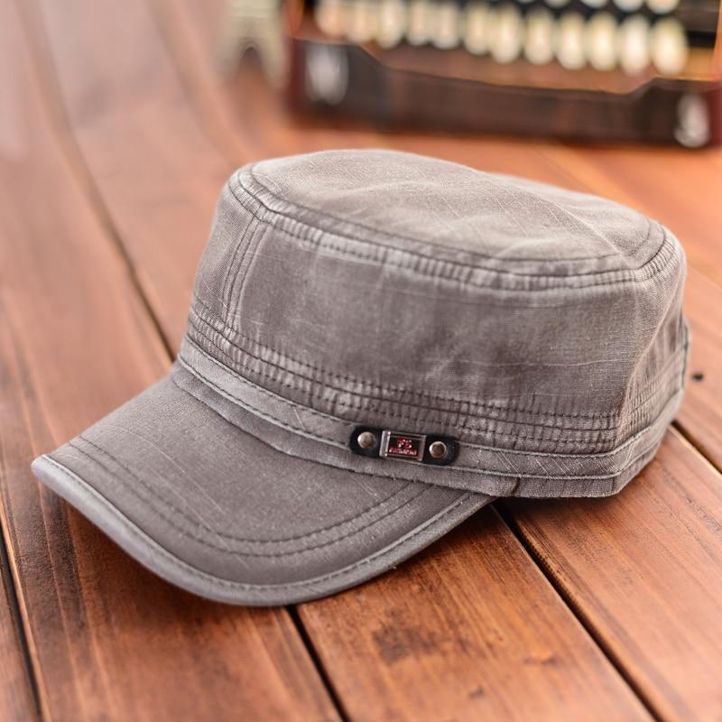 Retro cappello militare moda uomo donna army sun cap regolabile cappelli da baseball  visiera berretti militari unisex snapback flat top in cotone in Retro ... 837ea5eef45c