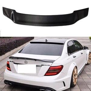 Image 1 - W204 4 portas de fibra de carbono renntech estilo automotivo, asa do porta traseira do carro para mercedes benz w204 2007 2014