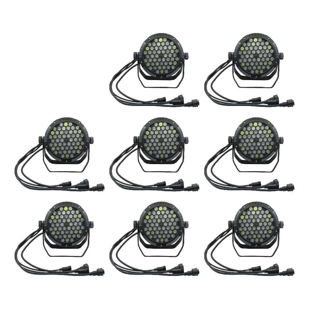 Knowledgeable 8pcs/lots Ip65 Waterproof Led Par Light 54*3w Outdoor Rainproof Stage Light 54x3w Led Par 64 Wall Washer Wedding Stage Light Waterproof Stage Lighting Effect Shock-Resistant And Antimagnetic