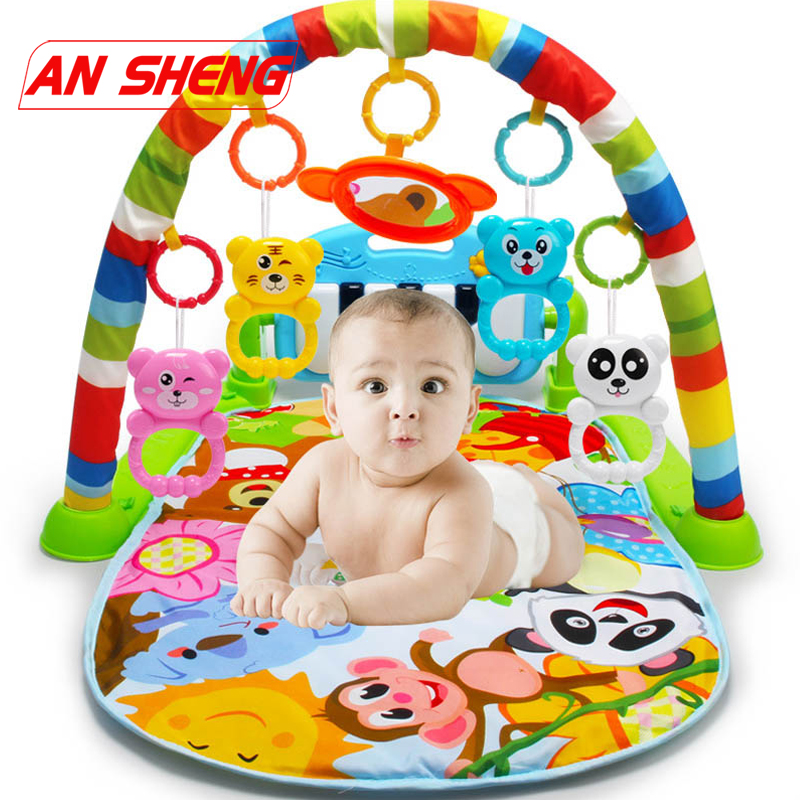 NEW 3 In 1 Baby Play Mat Rug Toys Kids Crawling Music Play Game Developing Mat With Piano Keyboard Infant Carpet Education Toy