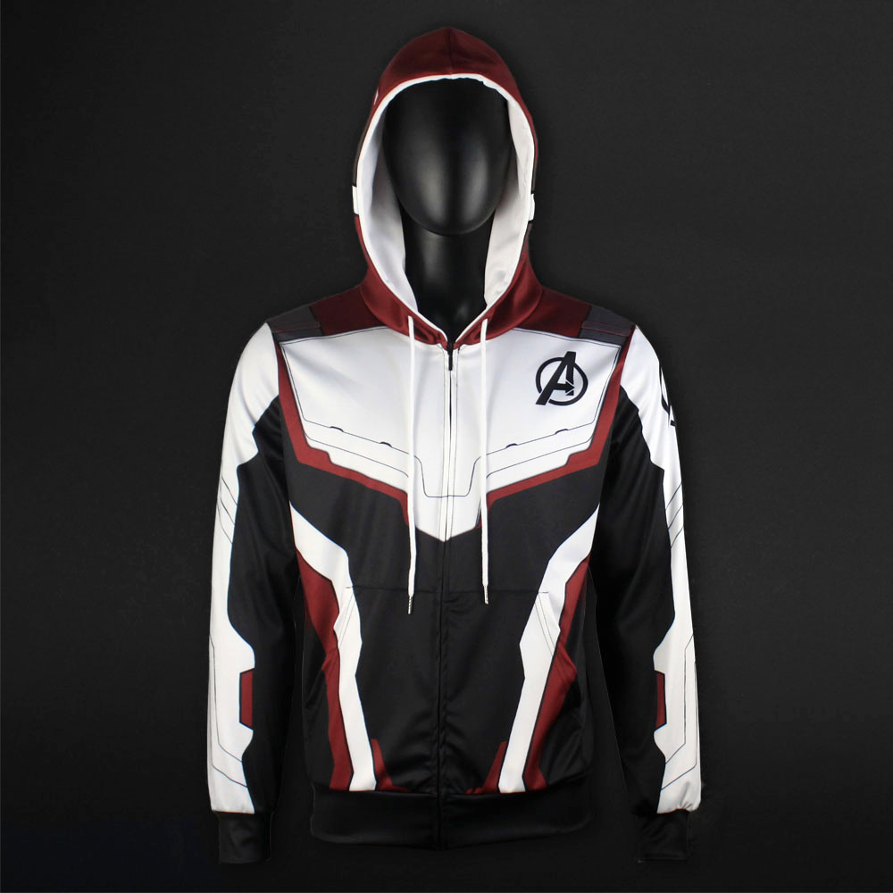 Men Women Avengers Endgame Realm Cosplay Hoodies 3D Pullover Sweatshirt Quantum Realm Superhero Zipper Jacket Costumes1