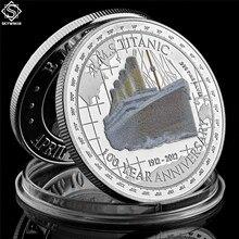1912 Titanic srebrna moneta 100 rocznica pamięć ofiar Rms pamiątkowa tragedia Titanic Collect