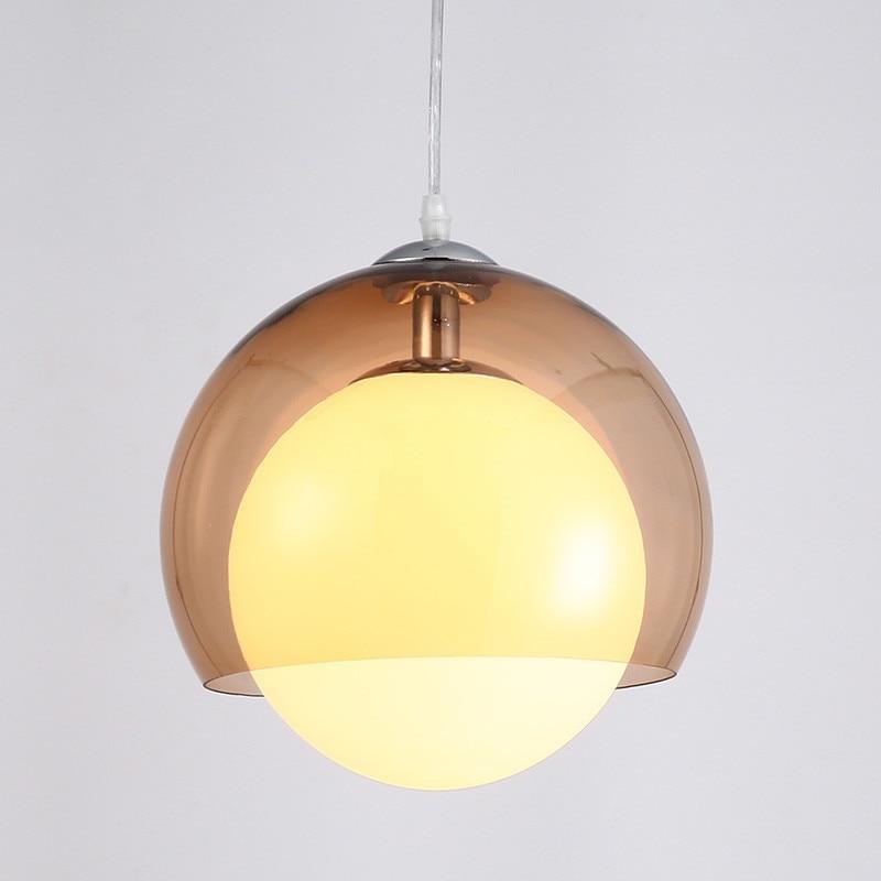 Luster Ball Glass Industrial Vintage Loft Pendant Light Lamp Lampshade E27 Holder Bar Lamps Restaurant Bedroom Lighting Fixture