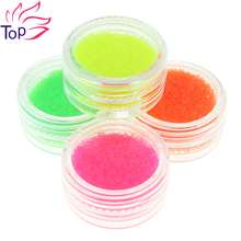 Fluorescent Color Caviar Nail Decorations Kits Charms Beads Supplies For Nails 4 Botter/Set 3D Diy Nail Art Jewelry Studs ZP230
